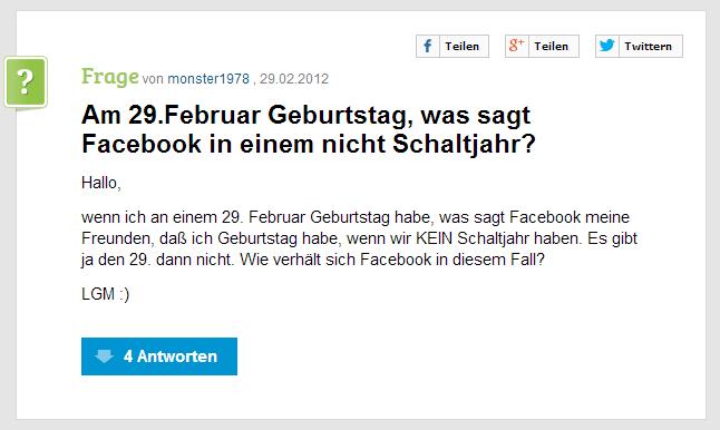 FacebookSchaltjahr