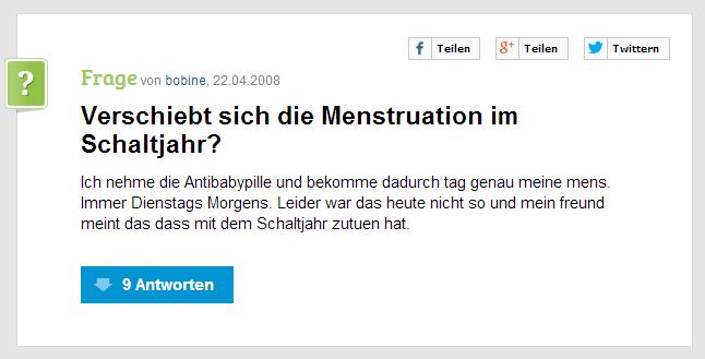 MenstruationSchaltjahr
